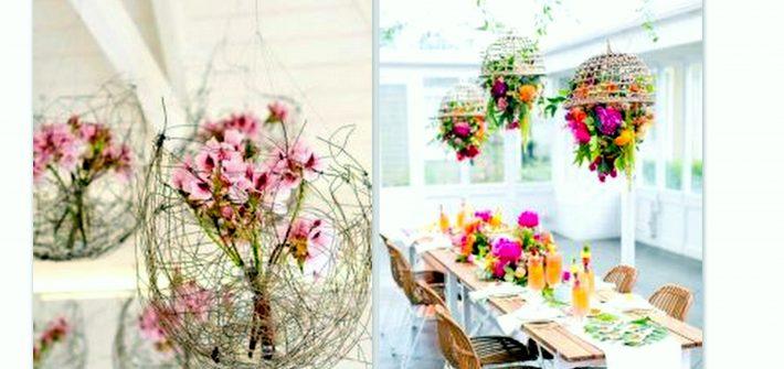 Wiszące kwiaty sztuczne na różne okazje